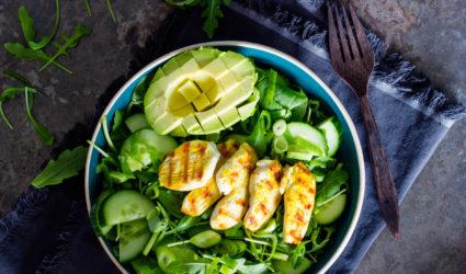 ketogeen dieet, recept, keto, salade, kip, avocado, gezond