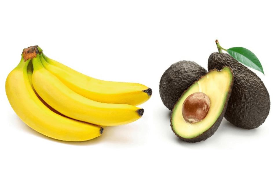 Ketogeen Dieet, kalium, avocado, banaan