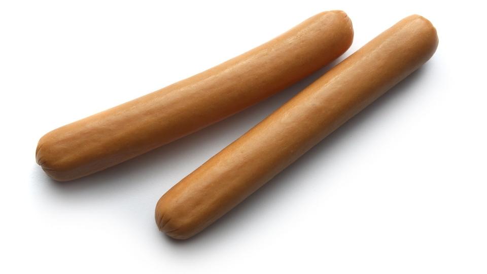 Knakworsten bevatten veel vet, maar weinig micronutrienten