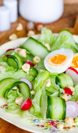 Keto, salade, lunch, diner