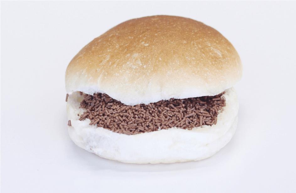 Wit broodje met hagelslag