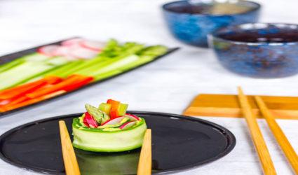 Vegan keto recept: komkommersushi