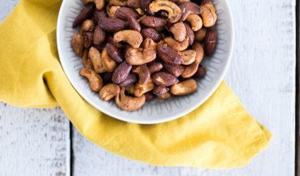 Geroosterde amandelen en cashews