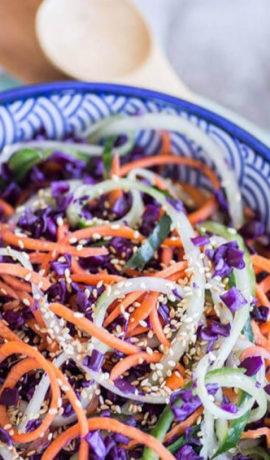 Kleurige Salade met Tahini
